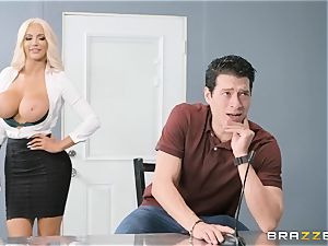 Nicolette Shea takes on Xanders meaty gigantic meatpipe