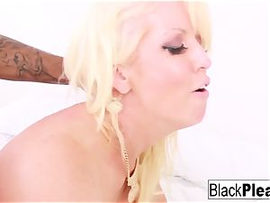 red-hot busty mummy Alura takes it both milky and ebony