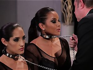 Adriana Luna and Chloe Amour play sexy victims