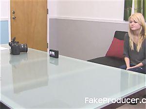FakeProducer casting little light-haired hotty Chloe Foster