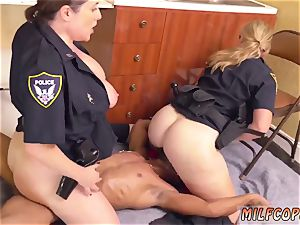 Russian cougar ass-fuck and blondie unexperienced mayo pie dark-hued masculine squatting in home gets our
