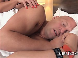 massive tit milf Alura Jenson has her cock-squeezing vulva punctured