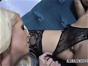 Alura and her chesty girl/girl buddy Dolly get ultra-kinky