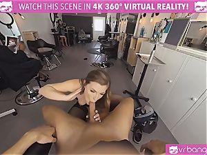 VRBangers.com Hairdresser Ella pounded stiff and facial cumshot