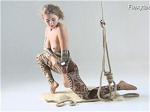 Anka the nudist flashing her talent