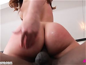 Maddy O'Reilly - My sizzling slot prepared for your enormous ebony weenie