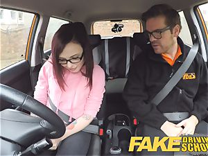 faux Driving school nubile Creampied by UK instructor