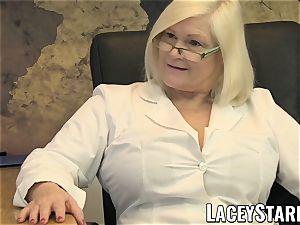 LACEYSTARR - GILF licks Pascal white jizz after romp