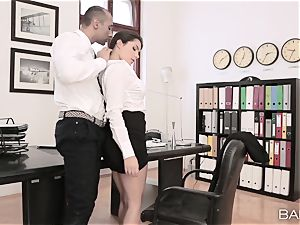 Valentina Nappi takes off off and penetrates her chief