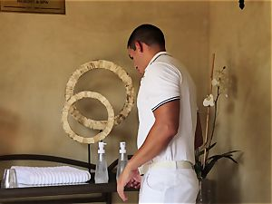 off the hook Nina Elle massage and jaw-dropping extras