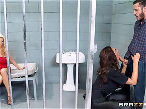 Bad cop Ava Koxxx steals Summer Brielles stud