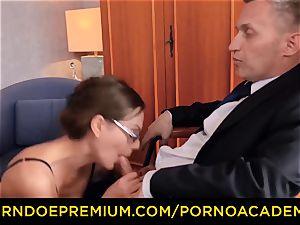 porno ACADEMIE - gorgeous teacher dp and naughty anal invasion drill