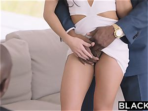 BLACKED super-hot Megan Rain Gets DP'd By Her Sugar father and His buddy