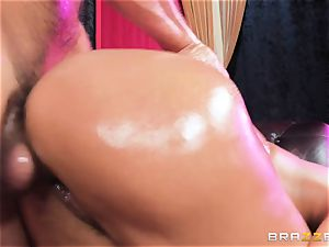 Oiley Mercedes Carrera pounded large time by large manstick