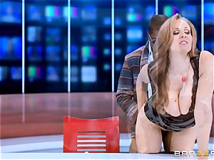 Julia Ann has a taste of a big black wood