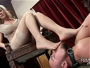 nasty humungous bosses Headmistress Brandi love predominates her employee in the office