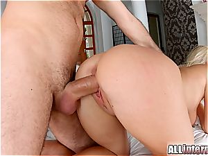 stellar ash-blonde plumbed firm and creampied