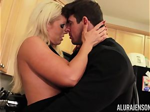 Alura Jenson gets romped by fat muscle man Zeb Atlas