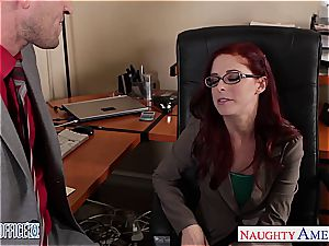 redhead hotty in glasses Penny Pax plow in the office