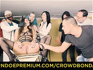 CROWD bondage submissive Amirah Adara first time domination & submission