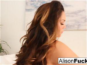 Alison Tyler caresses her cooch
