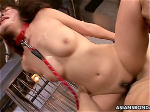asian hotty receives a harsh muff and booty poking