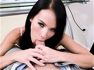 uber-sexy eyed Megan Rain takes it firm in her cock-squeezing snatch