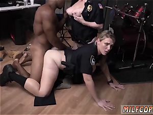 light-haired splendid inked and webcam babe fake penis moist flick grabs cop boinking a deadbeat father.