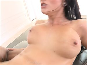 Creaming inwards mind-blowing brunette Katrina Jade