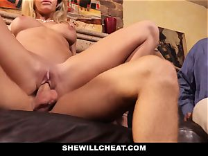 hotwife spouse watches Wifes vagina Get ruined