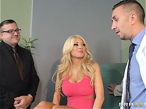 buxom wifey Kayla Kayden fucks physician for her hubby