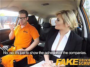 faux Driving college Posh super-naughty buxom examiner