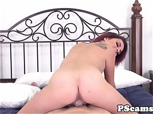 red-haired web cam stunner Ashlee Graham cockriding