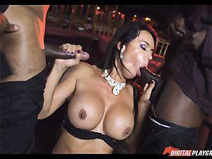 insatiable stunner Franceska Jaimes pulverized by 2 phat black spears