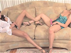 Ariella Ferrera dildoing with her girlfriend