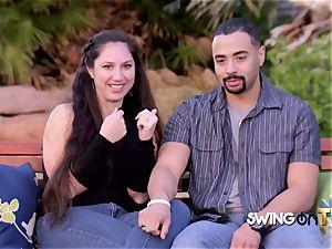Bearded hubby slurps his wife s twat before rendezvous other swingers