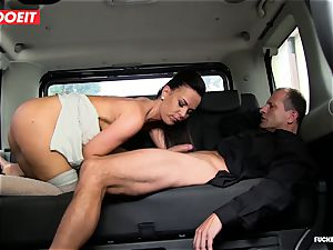 cab driver takes advantage of sad honey and romps her