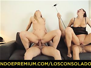 LOS CONSOLADORES - Hungarian platinum-blonde gets pounded point of view