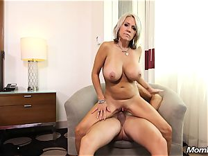 enormous milk cans mummy gets anal pummel and facial cumshot