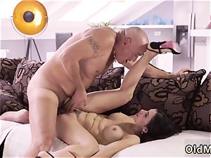 elder stud ravage gal Mira could hop on his man meat all day long and it was always rock-hard and