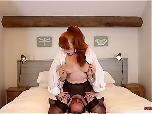 Mature brit sandy-haired oral fun time with her husband