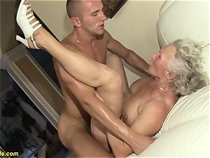 75 years old granny first pornography flick