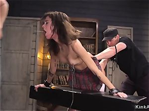 Deep jaws super-bitch rectal boinked in restrain bondage