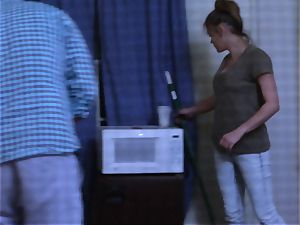 Brianna brown caught on spy web cam as she pokes