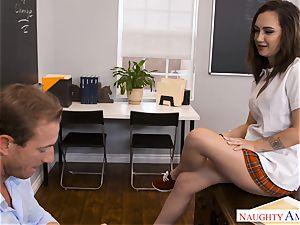 insatiable hung lecturer Ryan screws tiny Lily Jordan