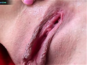 Tanya James using gigantic fake penises into her raw snatch