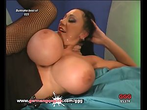 German mommy loves jism on her Pretty face And phat baps