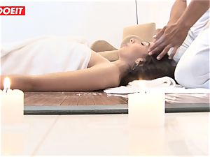 LETSDOEIT - naughty brunette torn up firm at The SPA