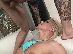 Anikka Albrite and Alexis Texas using a fleshlight on Tommy Pistol