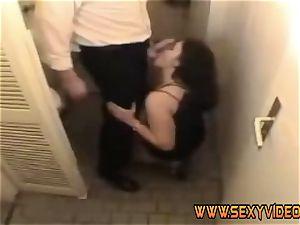Juliane romp with her housband on washroom